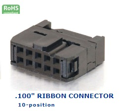 35-010‐17 RIBBON CONNECTOR .100″