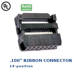 35-014‐24 RIBBON CONNECTOR .100″