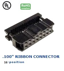 35-016‐24 RIBBON CONNECTOR .100″