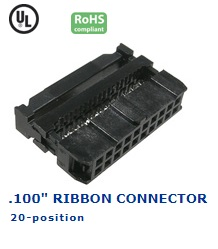 35-020‐24 RIBBON CONNECTOR .100″
