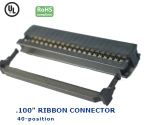 35-040‐27 RIBBON CONNECTOR .100″