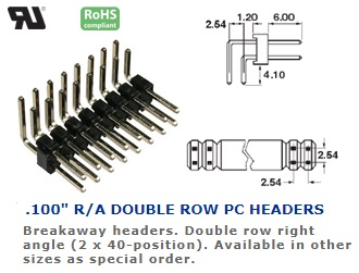 36-480G-70 .100″ R/A DOUBLE ROW PC HEADERS