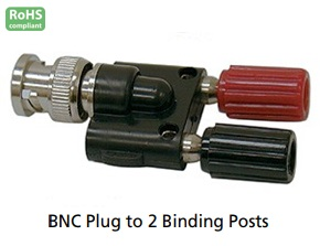 378-120 BNC MALE TO 2 BINDING POSTS