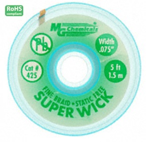 425-5FT GREEN 0.075″ Fine Braid Super Wick