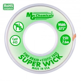 443-25FT GREEN 0.075″ Fine Braid Super Wick