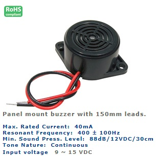 61-232-120 PANEL MOUNT BUZZER