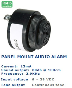 61-301-240 PANEL MOUNT AUDIO ALARM