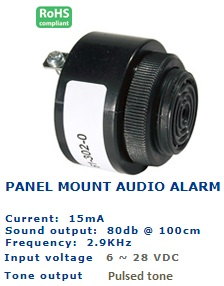 61-302-210 PANEL MOUNT AUDIO ALARM