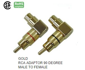 AG1005 RCA ADAPTOR 90 DEGREE MALE TO FEMALE