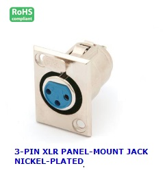 CA104 3-PIN XLR PANEL-MOUNT JACK