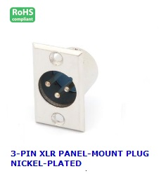 CA105 3-PIN XLR PANEL-MOUNT PLUG