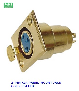 CA106 3-PIN XLR PANEL-MOUNT JACK