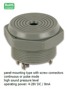 SV5 PANEL-MOUNTING BUZZER