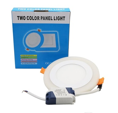 LED-02-18 Ultra Slim Round Concealed Dual Color LED Panel Light