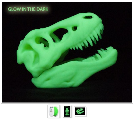 PLA17GD1 PLA Glow in the Dark 3D printing filaments