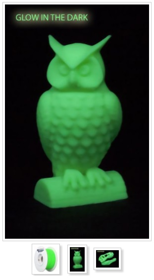 ABS17GD1 ABS Glow in the Dark 3D printing filaments